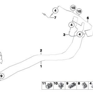 Замена магистральной тормозной трубки 1 шт.