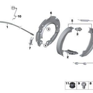 Замена троса ручного тормоза комплект
