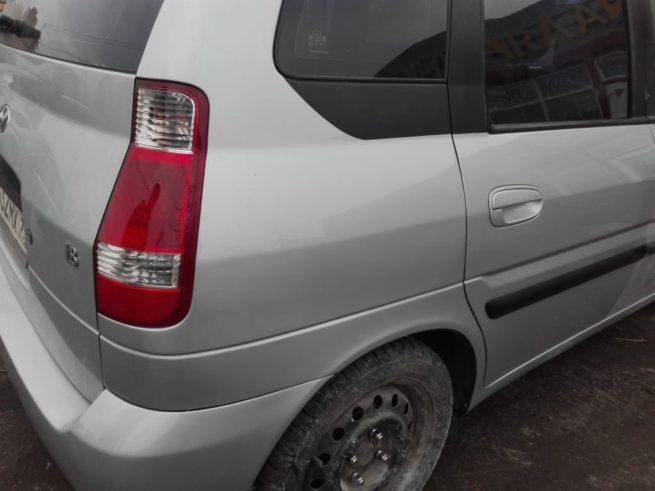 Hyundai Matrix ремонт покраска заднего крыла, задней двери и заднего бампера .