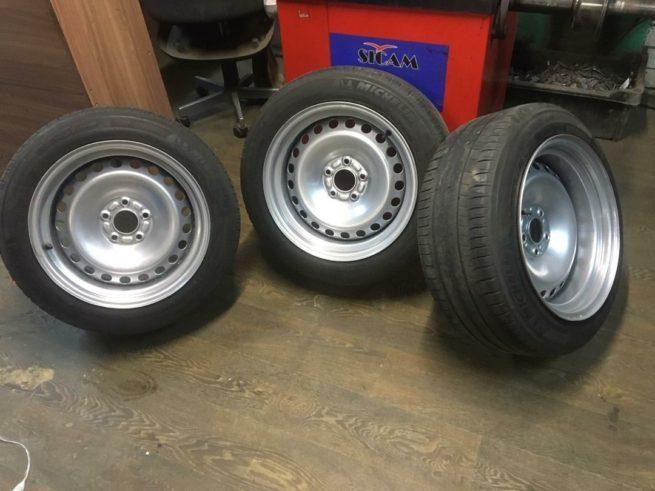 Покраска колесных дисков автомобиля порошковой краской в Санкт-Петербурге и Ленинградской области.