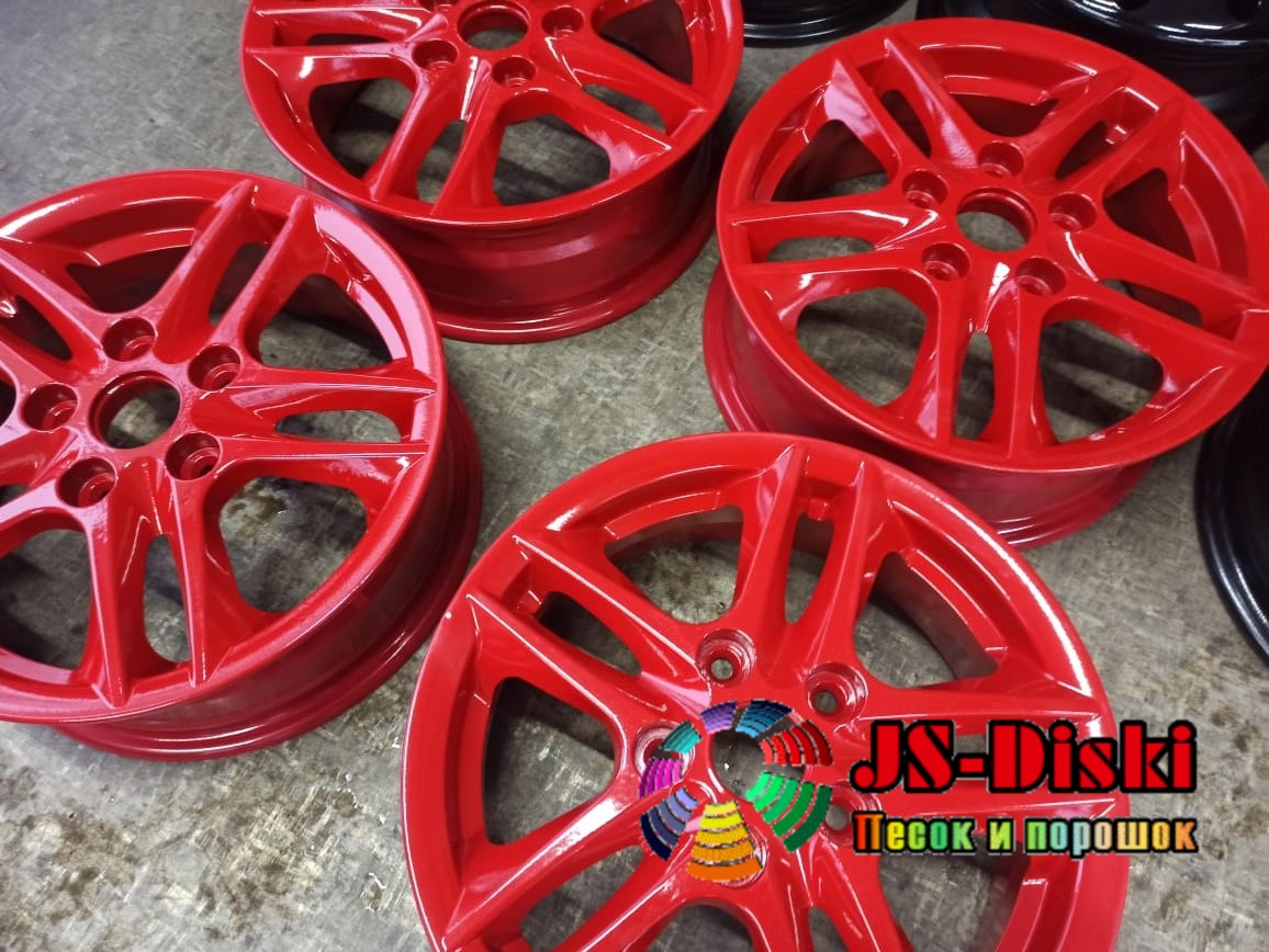 JS-Diski.ru - Покраска литых дисков R15 красный рубин RAL 3003