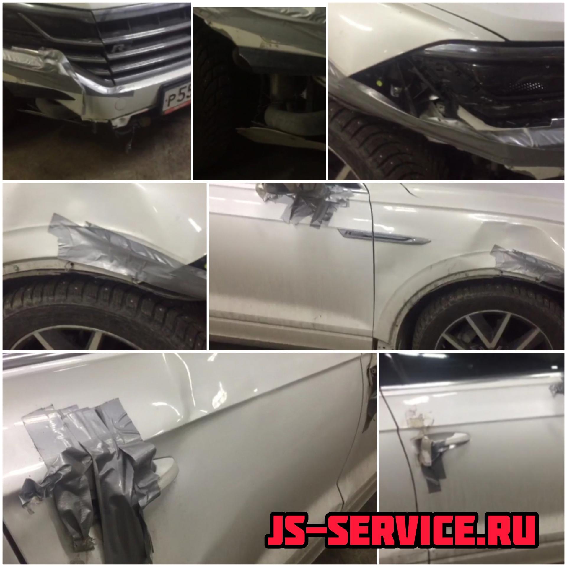 Volkswagen Touareg 2019 кузовной ремонт в филиале Колпино Js-service.ru Колпино, Рабочий переулок дом 3.